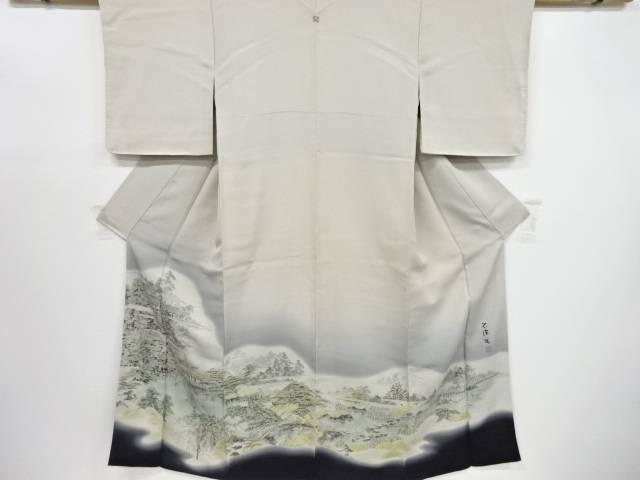 【IDnet】 作家物 手描き庭園風景模様一つ紋色留袖【リサイクル】【中古】【着】