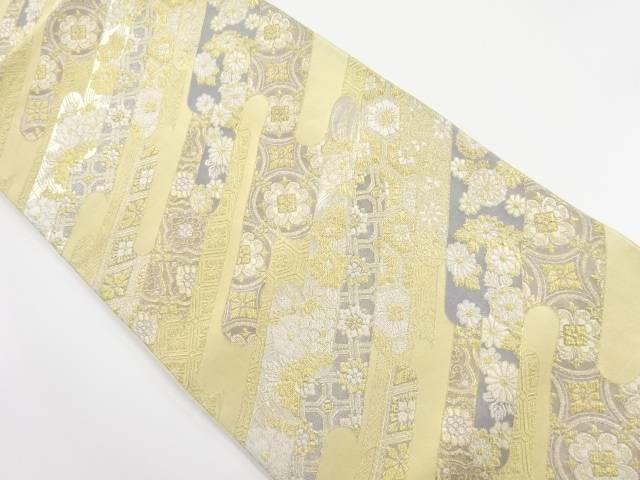 【IDnet】 金銀糸華紋更紗模様織り出し袋帯【リサイクル】【中古】【着】