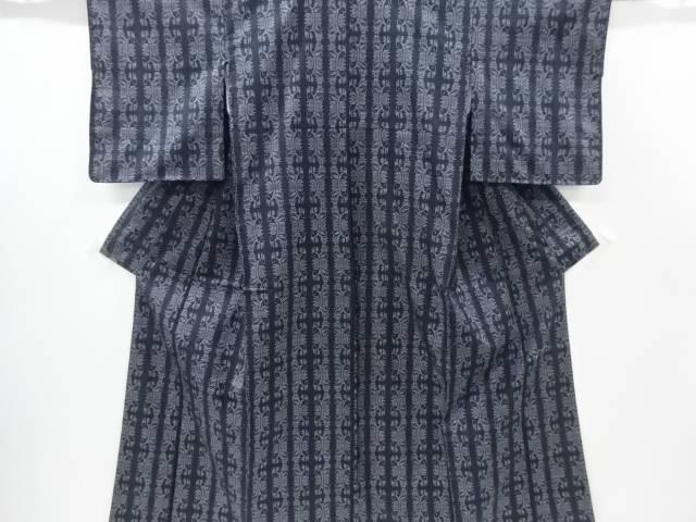 【IDnet】 未使用品 幾何学模様織り出し本場薩摩大島紬着物(5マルキ)【リサイクル】【着】