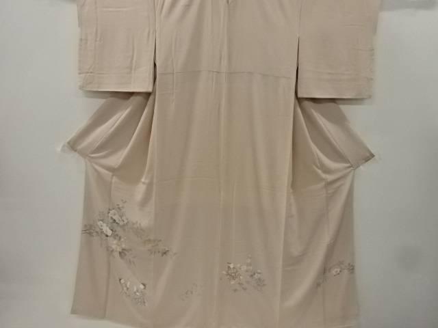 【IDnet】 手描き友禅椿に童女模様一つ紋色留袖(比翼付き)【リサイクル】【中古】【着】