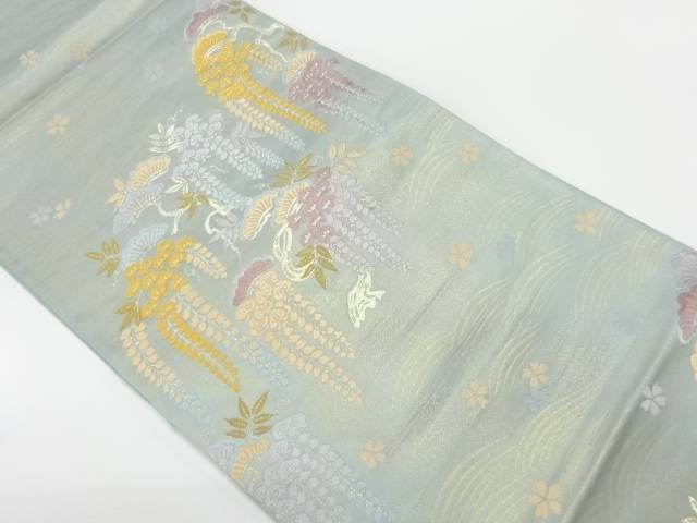 【IDnet】 松藤に桜模様織出し袋帯【リサイクル】【中古】【着】