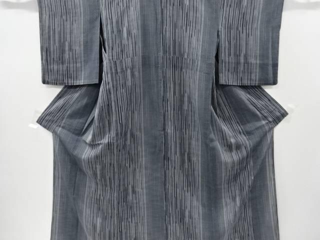 【IDnet】 紗紬縞に絣柄織り出し着物【リサイクル】【中古】【着】