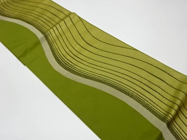 【IDnet】 曲線抽象模様織出し袋帯【リサイクル】【中古】【着】