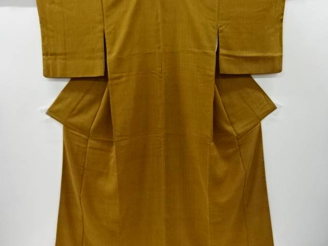 【IDnet】 木目模様手織り節紬着物【リサイクル】【中古】【着】