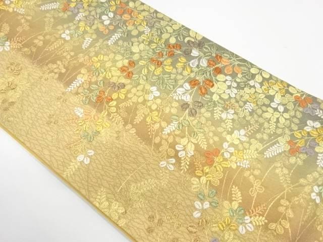 【IDnet】 萩模様刺繍袋帯【リサイクル】【中古】【着】
