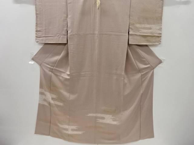 【IDnet】 絞りヱ霞に箔散らし模様刺繍一つ紋訪問着【リサイクル】【中古】【着】