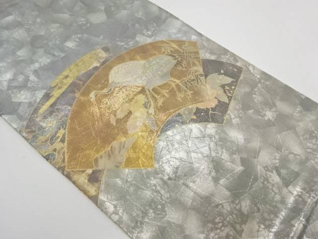 【IDnet】 螺鈿地紙鶴模様織出し袋帯【リサイクル】【中古】【着】