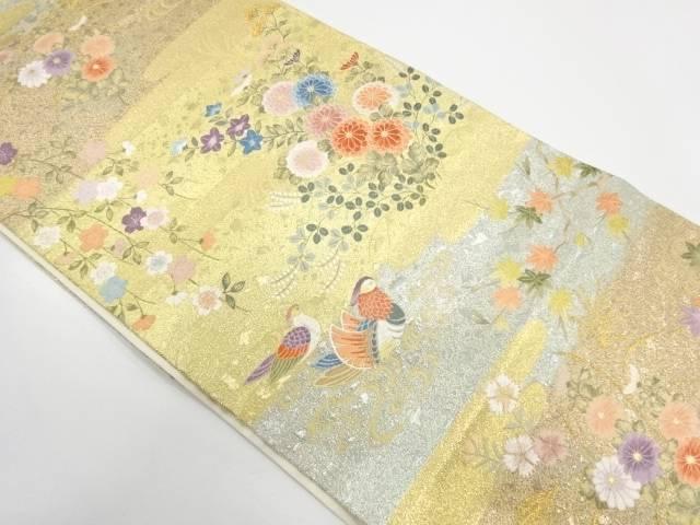 【IDnet】 春秋花園文織出し袋帯【リサイクル】【中古】【着】