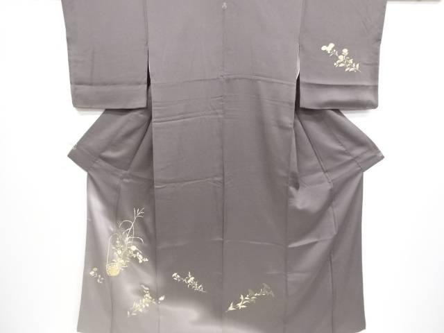 【IDnet】 花籠模様刺繍一つ紋訪問着【リサイクル】【中古】【着】