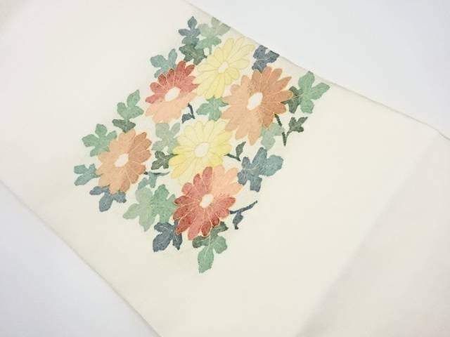 【IDnet】 明つづれ 菊模様織り出し袋帯【リサイクル】【中古】【着】