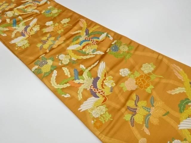 【IDnet】 唐織立涌に鳳凰花々模様織出し袋帯【リサイクル】【中古】【着】