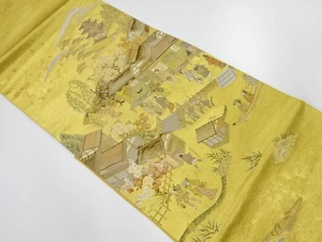 【IDnet】 引箔時代人物風景模様織出し袋帯【リサイクル】【中古】【着】