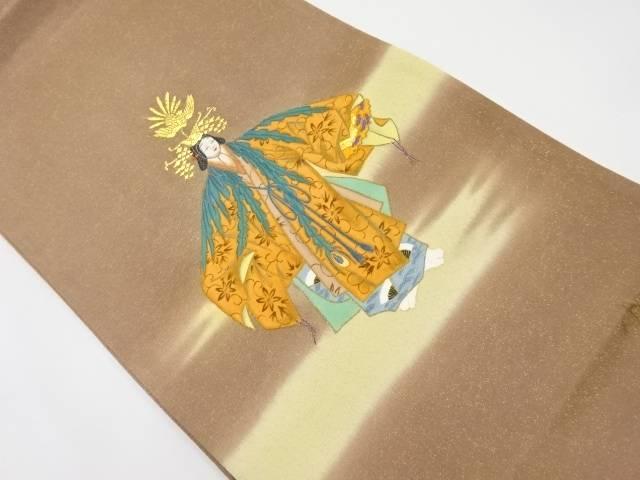 【IDnet】 作家物 金通し 能模様織出袋帯【リサイクル】【中古】【着】