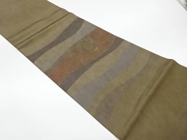 【IDnet】 曲線に抽象模様織出し袋帯【リサイクル】【中古】【着】
