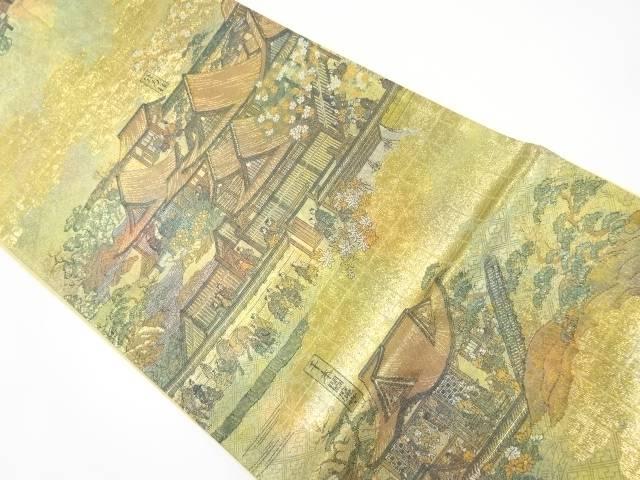 【IDnet】 洛中洛外の図織り出し袋帯【リサイクル】【中古】【着】