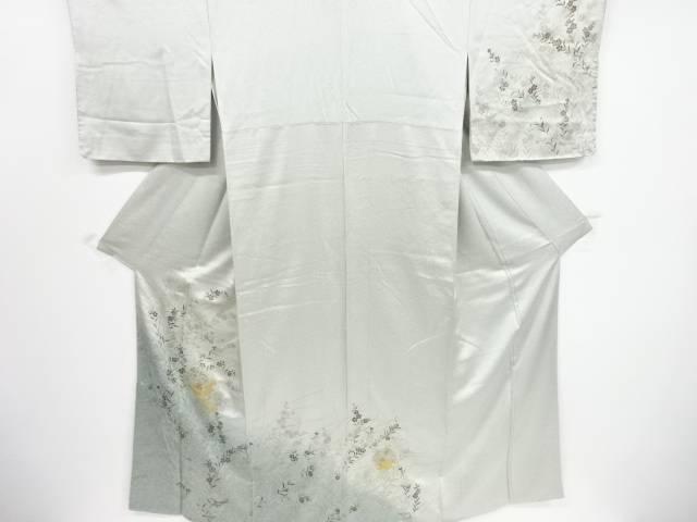 【IDnet】 雪輪に秋草模様刺繍一つ紋訪問着【リサイクル】【中古】【着】