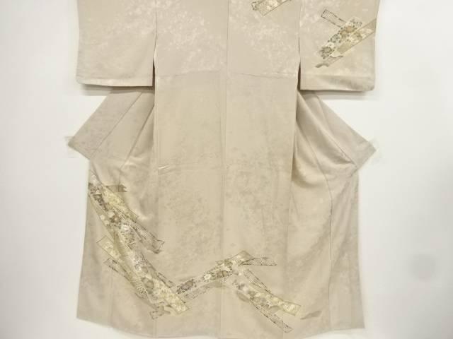 【IDnet】 金彩椿に梅・桜模様訪問着【リサイクル】【中古】【着】