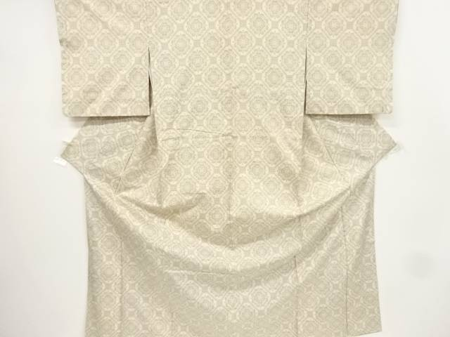 【IDnet】 蜀江に華紋織り出し手織り節紬着物【リサイクル】【中古】【着】