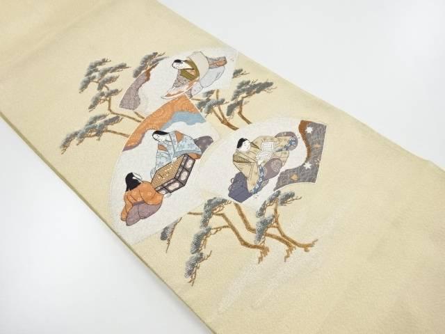 【IDnet】 綴れ 地紙に時代人物模様織出袋帯【リサイクル】【中古】【着】