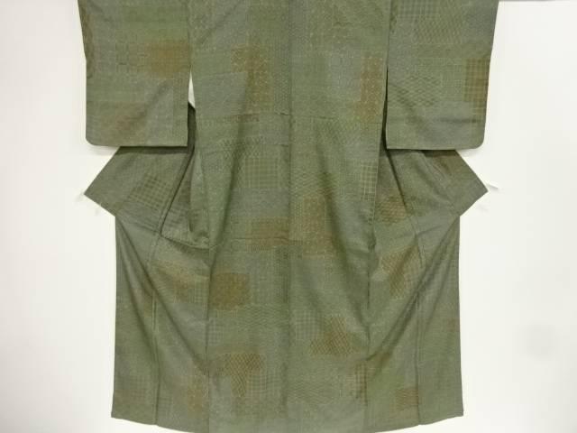 【IDnet】 古典柄手織り真綿紬着物【リサイクル】【中古】【着】