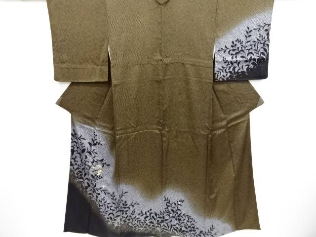 【IDnet】 疋田草葉に笹模様刺繍訪問着【リサイクル】【中古】【着】