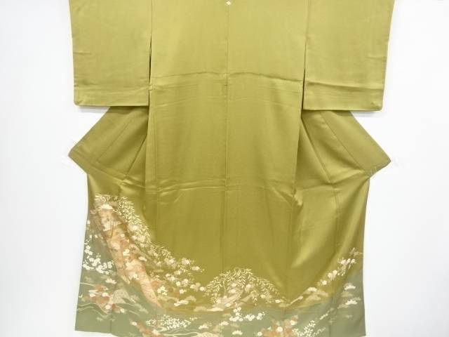 【IDnet】 誰が袖に松竹梅模様刺繍一つ紋色留袖【リサイクル】【中古】【着】