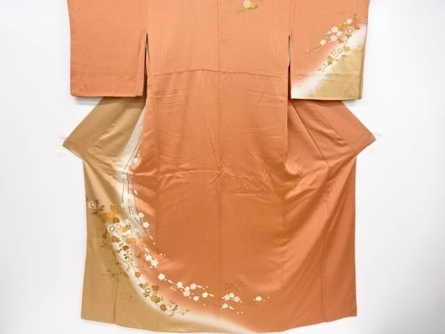 【IDnet】 金彩菊に枝垂れ花模様訪問着【リサイクル】【中古】【着】