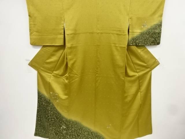 【IDnet】 金彩地紙に枝垂れ花模様刺繍訪問着【リサイクル】【中古】【着】