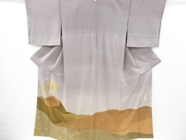 【IDnet】 作家物 砂漠に駱駝模様刺繍一つ紋訪問着【リサイクル】【中古】【着】