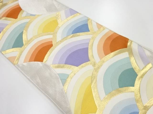 【IDnet】 青海波模様織出し袋帯【リサイクル】【中古】【着】