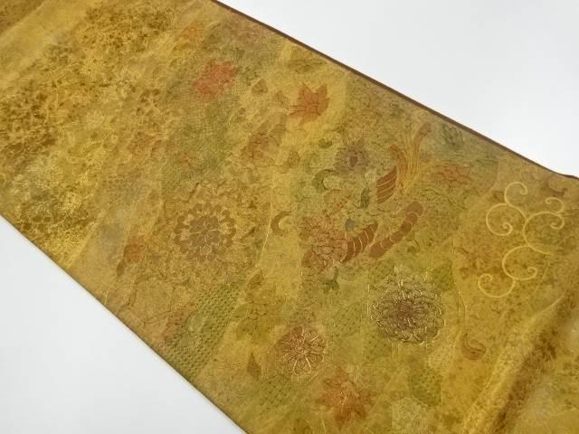 【IDnet】 花鳥模様刺繍袋帯【リサイクル】【中古】【着】