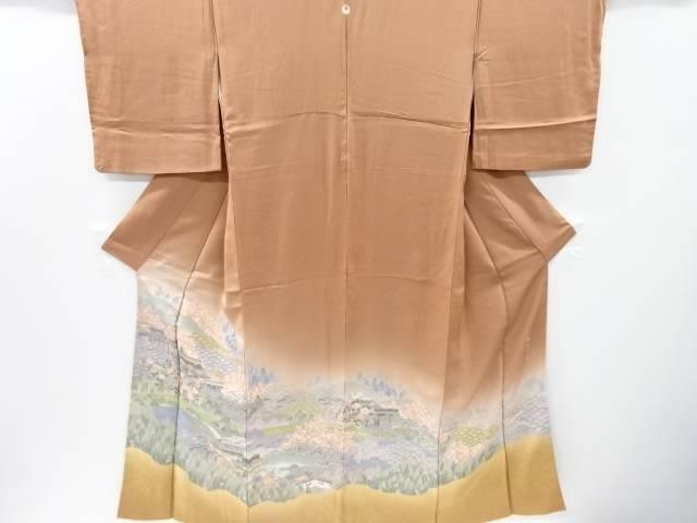 【IDnet】 寿光織庭園風景模様一つ紋色留袖【リサイクル】【中古】【着】