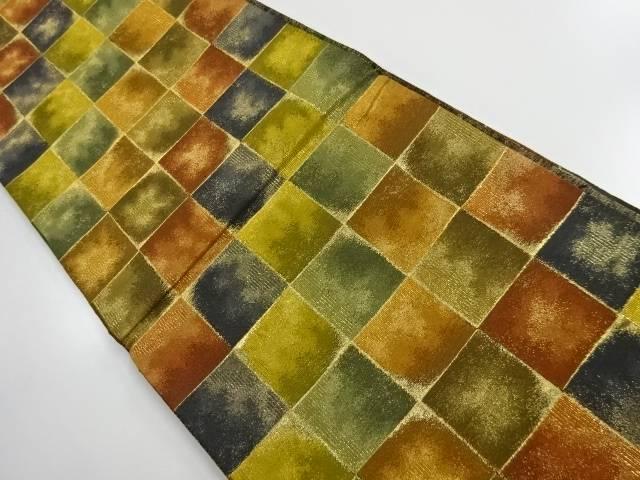 【IDnet】 本金 石畳模様織り出し袋帯【リサイクル】【中古】【着】