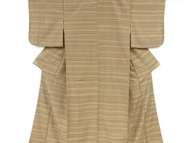 【IDnet】 横段織り出し手織り真綿紬着物【リサイクル】【中古】【着】