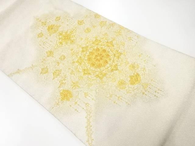 【IDnet】 綴れ純金箔24K華紋織出し袋帯【リサイクル】【中古】【着】