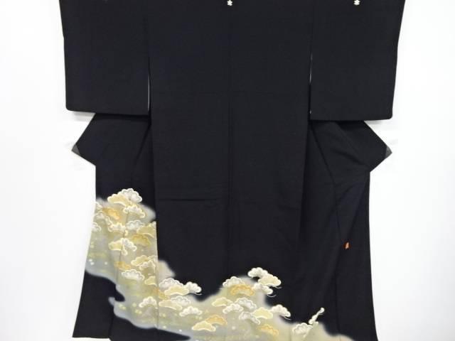 【IDnet】 作家物 金彩松原模様刺繍留袖(比翼付き)【リサイクル】【中古】【着】