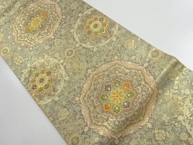 【IDnet】 服部織物製 オリエント更紗本金箔24K華紋模様織り出し袋帯【リサイクル】【中古】【着】