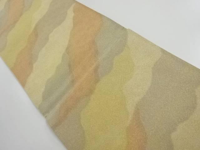【IDnet】 正和製 砂子綴れ霞模様織り出し全通袋帯【リサイクル】【中古】【着】