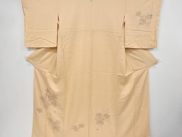 【IDnet】 未使用品 汕頭蘇州刺繍文箱に菊・牡丹・梅模様一つ紋訪問着【リサイクル】【着】