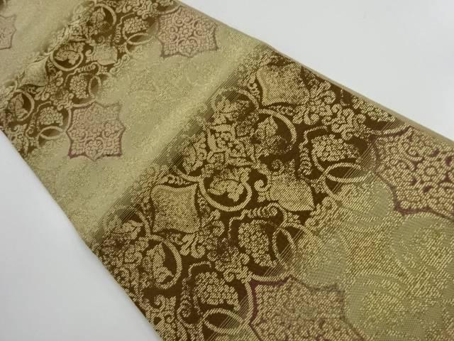 【IDnet】 金通し華紋に葡萄唐草模様織り出し袋帯【リサイクル】【中古】【着】