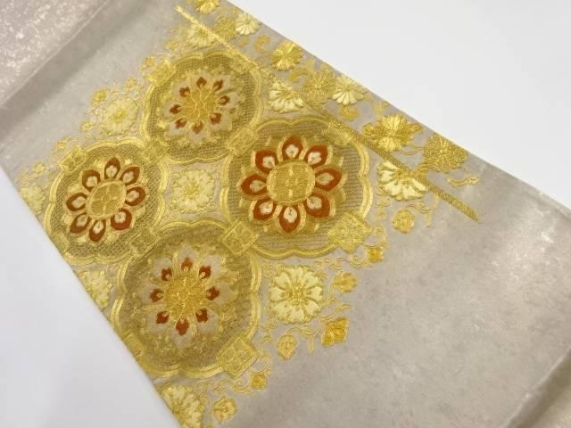 【IDnet】 汕頭蘇州刺繍華紋模様袋帯【リサイクル】【中古】【着】