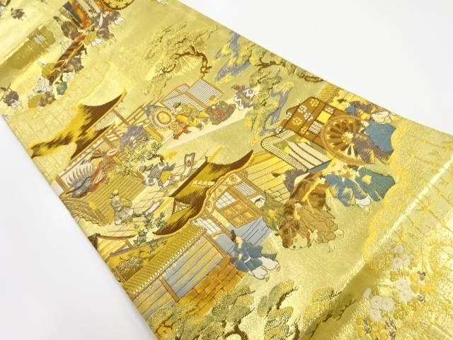 【IDnet】 本金時代人物・祭模様織り出し袋帯【リサイクル】【中古】【着】
