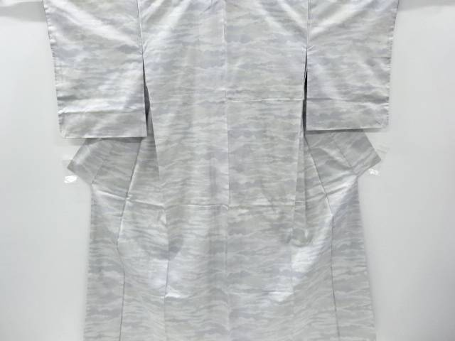 【IDnet】 未使用品 霞模様織り出し本場白大島紬着物(5マルキ)【リサイクル】【着】