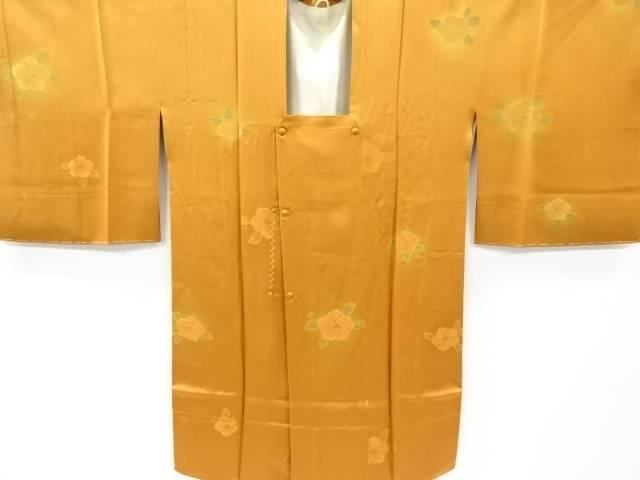 【IDnet】 未使用品 花模様織り出しロング道行コート【リサイクル】【着】