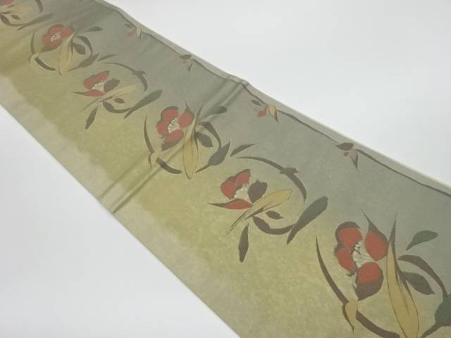 【IDnet】 草花模様織出し洒落袋帯【リサイクル】【中古】【着】
