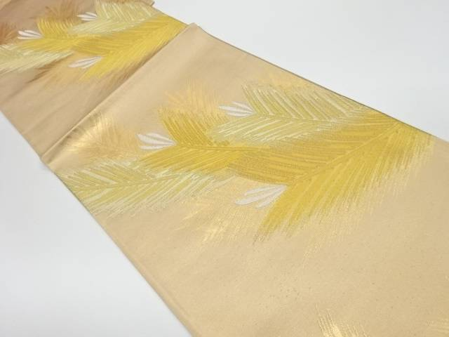 【IDnet】 未使用品 羽模様織出し袋帯【リサイクル】【着】