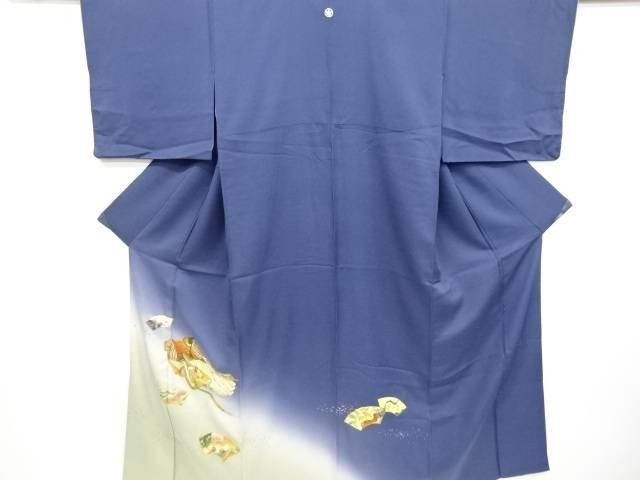 【IDnet】 作家物 箔置き地紙に十二単模様一つ紋色留袖【リサイクル】【中古】【着】