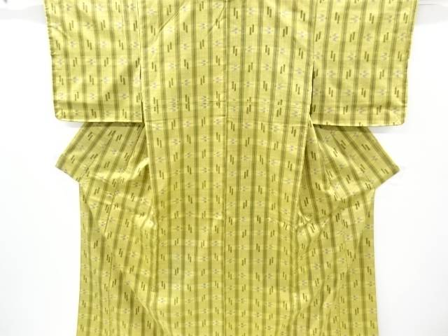 【IDnet】 未使用品 仕立て上がり 本場琉球絣手織り真綿紬着物【着】