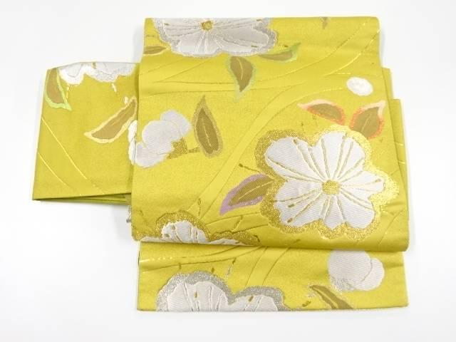 【IDnet】 金銀糸流水に花模様織出し作り帯【リサイクル】【中古】【着】