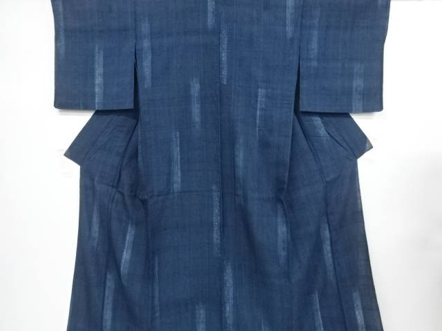 【IDnet】 花更紗模様手織り真綿紬単衣着物【リサイクル】【中古】【着】